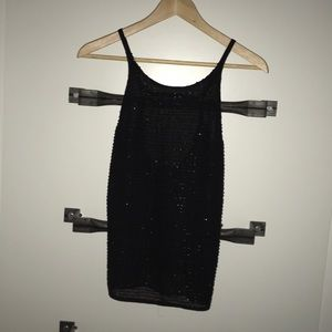 Backless beaded black top